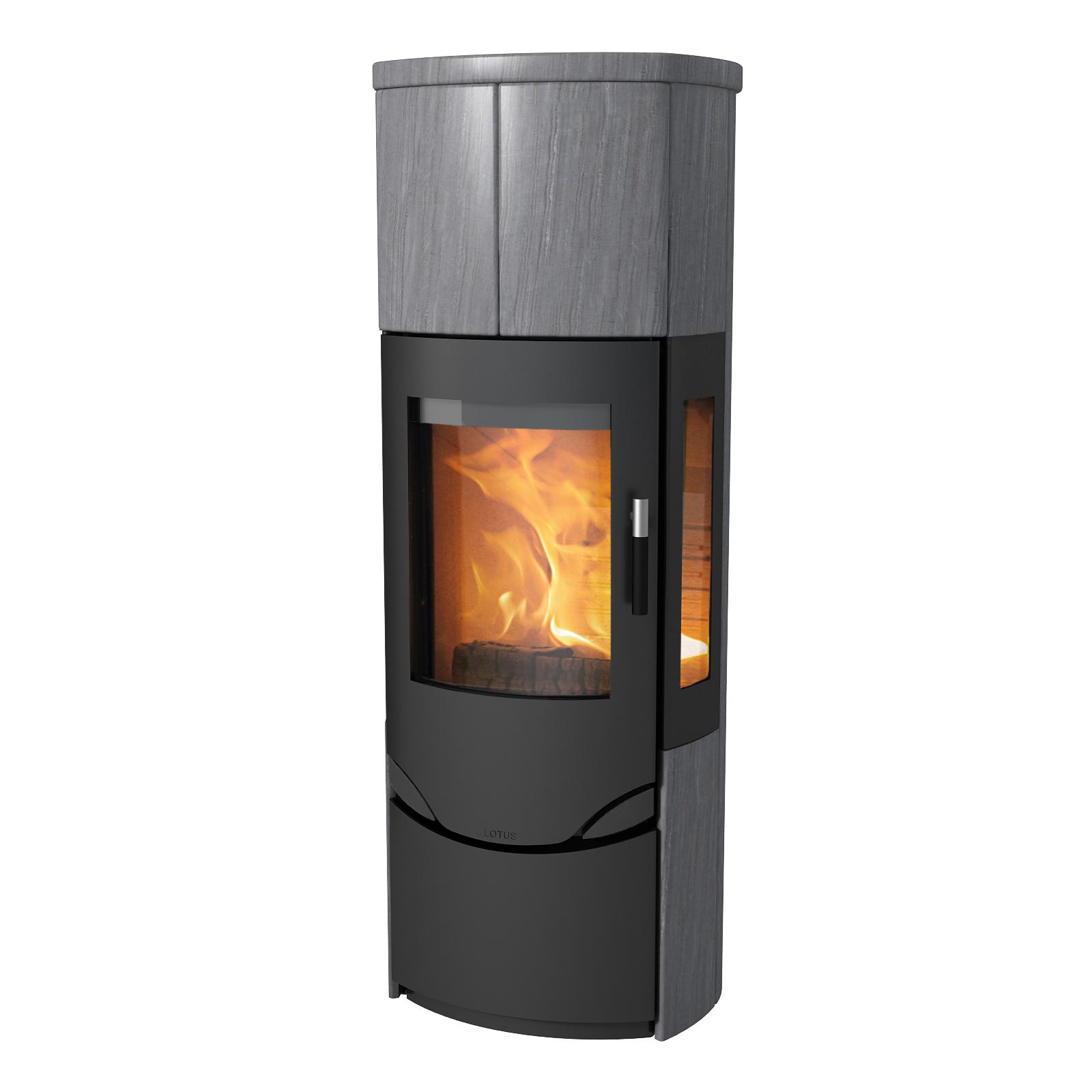 lotus prio m mit seitengl sern rudelmann feuer und design bodmann. Black Bedroom Furniture Sets. Home Design Ideas